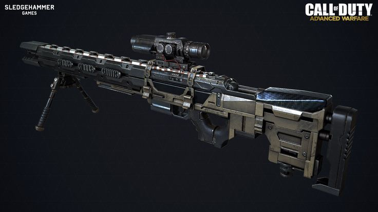 ArtStation - MORS Railgun CoD Adv. Warfare sniper-rifle by Sean Marino