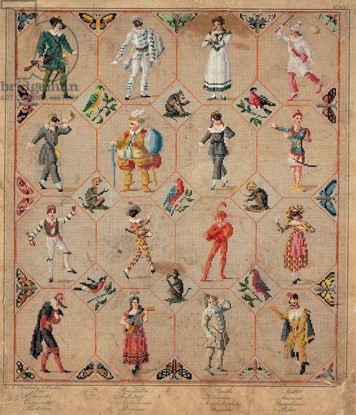 Berlin Wool Work Pattern - Commedia Del'Arte