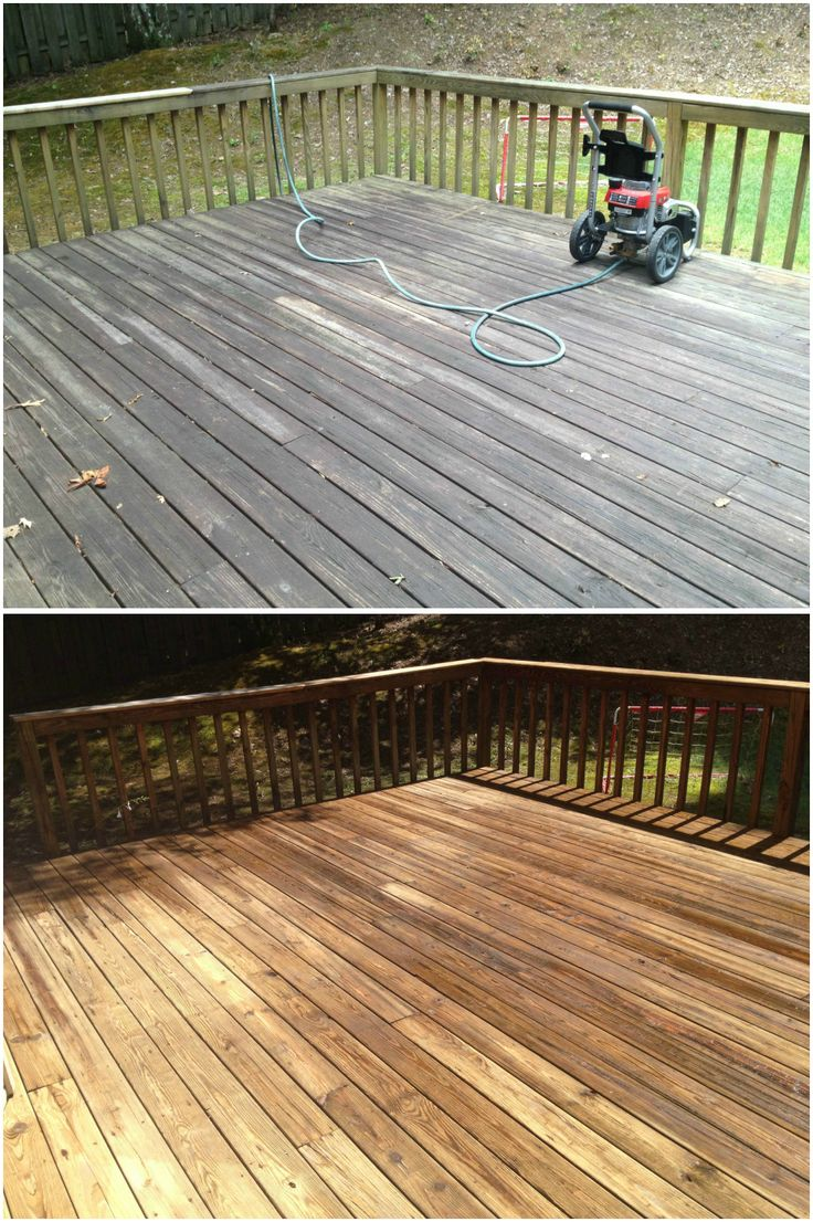 Deck amp patio furniture are often neglected when hiring a pressure - Before And After Pressure Cleaning A Wood Deck Looks Nice Hey