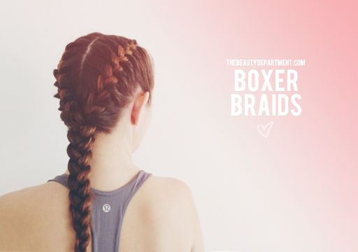Workout hair idea 4: simple boxer braids.