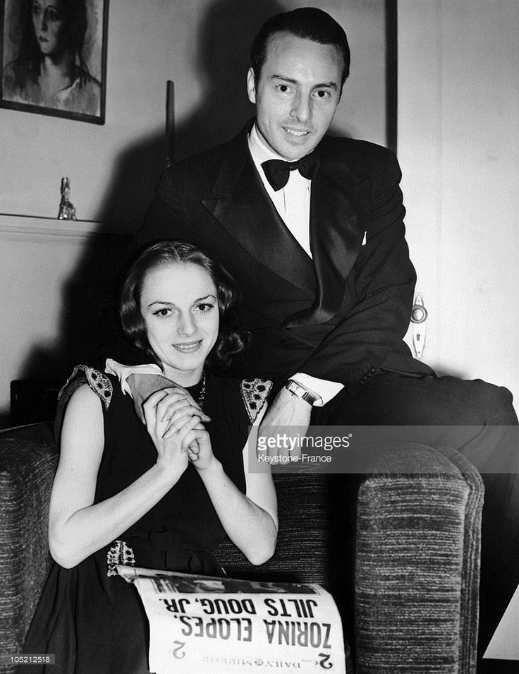 Vera Zorina And George Balanchine,  Director Of The New York Ballet, at home in New York. January 15, 1939