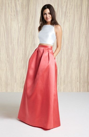 Xscape Beaded Two-Piece Satin Ball Gown   Nordstrom 248.00