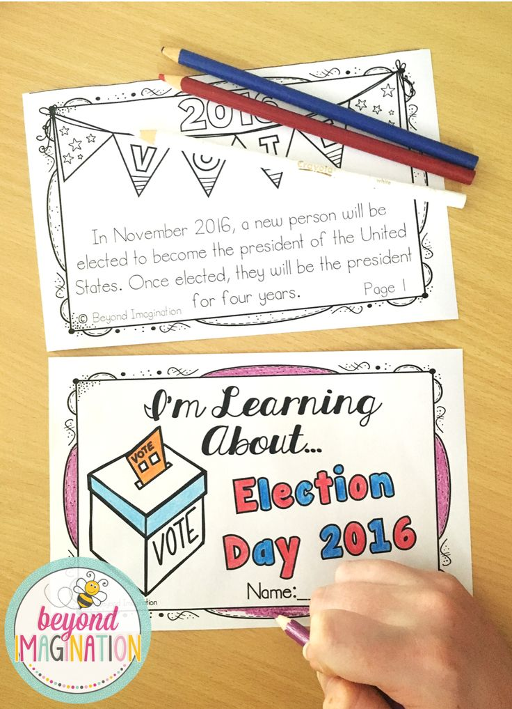 Election Vocabulary | Voting Slips | Election 2016 Booklet | 156 Pages for Differentiated Learning + Bonus Pages