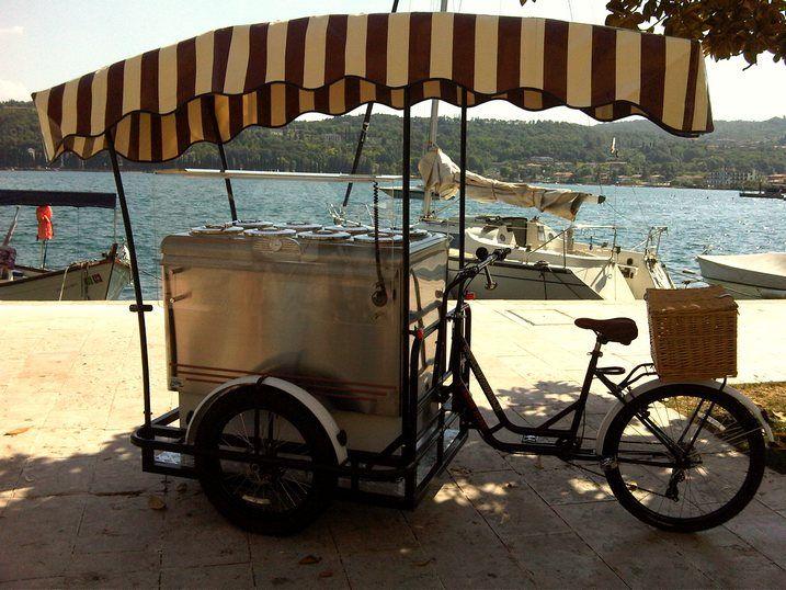 ITALIAN ICE CREAM CART on BIKE TRICYCLE CARGO BIKE ITALY
