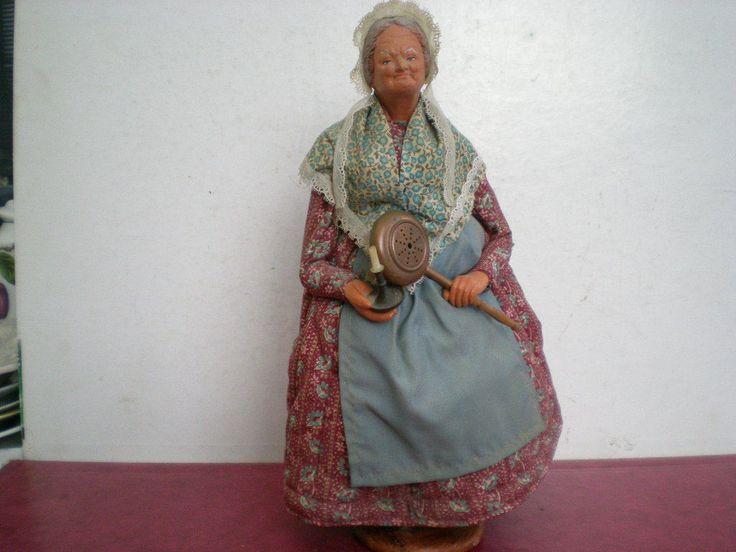 Grand Santon De Provence Femme Signe S.jouglas Creche