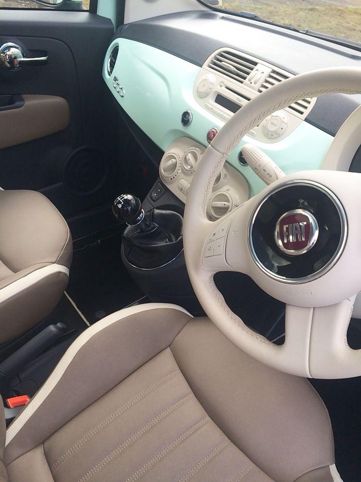 Fiat 500 in Smooth Mint - My baby! www.facebook.com/sundaebeauty