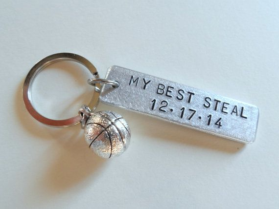 Anniversary Keychain Basketball Keychain by JewelryEveryday