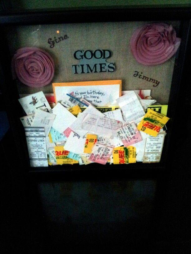 Ticket shadow box perfect gift for girlfriend boyfriend for How to find the perfect gift for your boyfriend