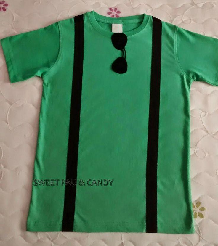 Camiseta tirantes y gafas de sol.Mod.Lucas Green T-shirt handmade.Sunglasses and braces