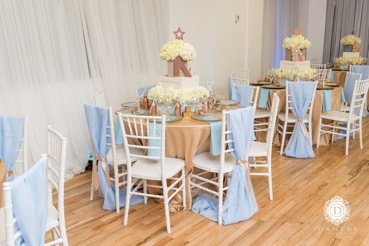 twinkle twinkle little star baby shower tablescape  centerpieces  centerpiece stick  chair sash