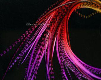 Lila Haare Federn Lavendel Hahn Feder Haar von featherswholesale