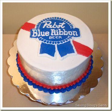 pabst blue ribbon cake topper | 20100719 P7190099