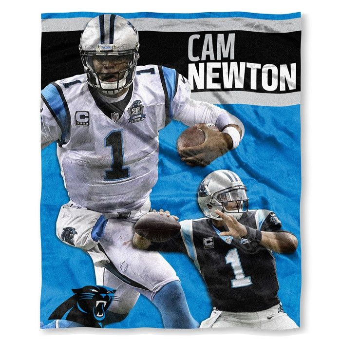 Carolina Panthers Cam Newton NFL Players HD Silk Touch Throw. 50 x 60.  Visit SportsFansPlus.com for Details.
