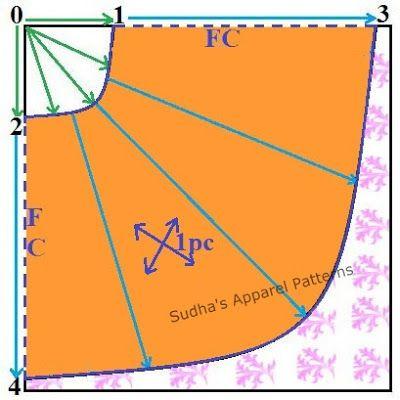 Sudha's Apparel Patterns Curcular Anarkali Skirt