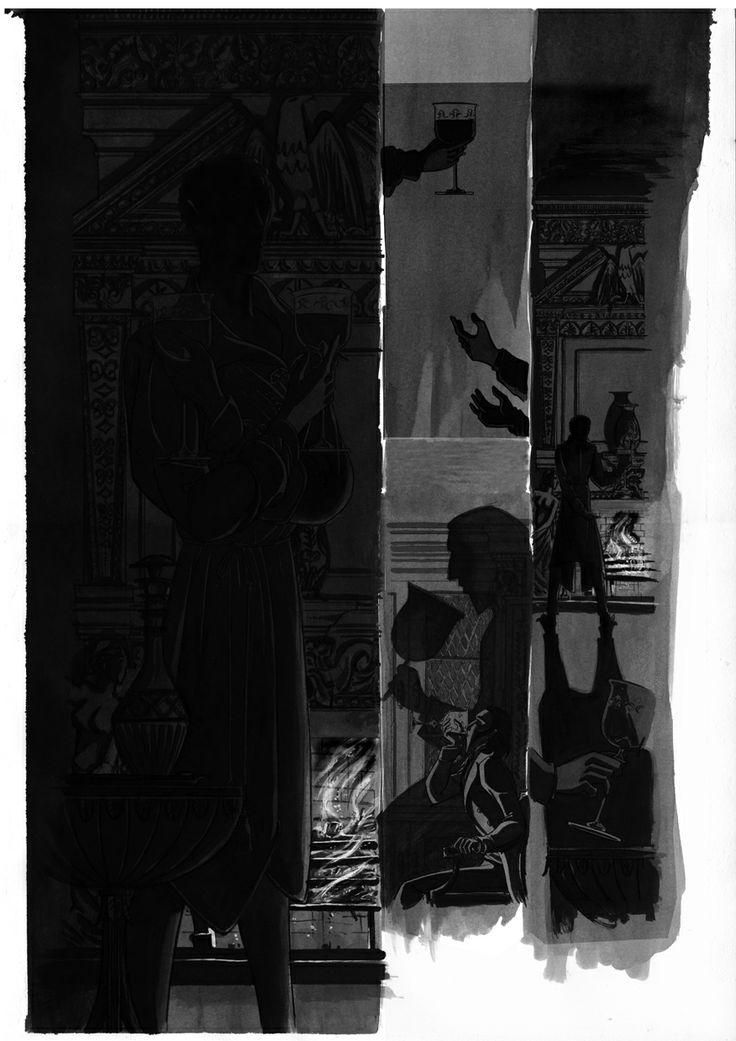 Página 11 c2: tinta aguada sobre copia en papel dina3: 75 € David Belmonte ©