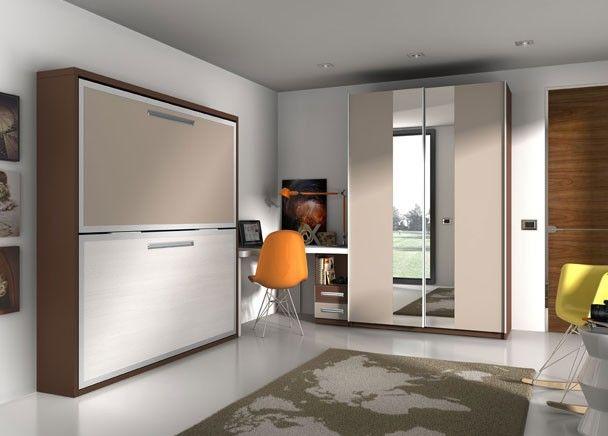 M s de 25 ideas incre bles sobre literas abatibles - Habitaciones juveniles camas abatibles horizontales ...