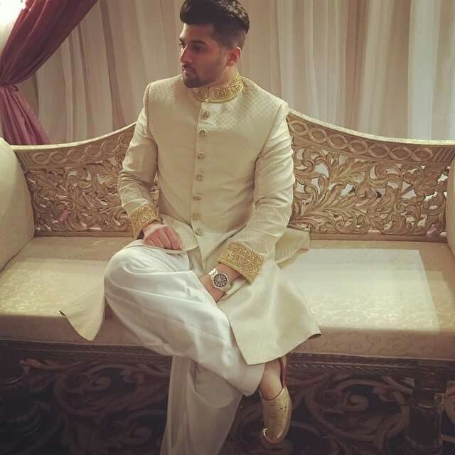 Zauq collection by saima shah Montréal #pakistani #sherwani #indian  Model: Sameer Josh