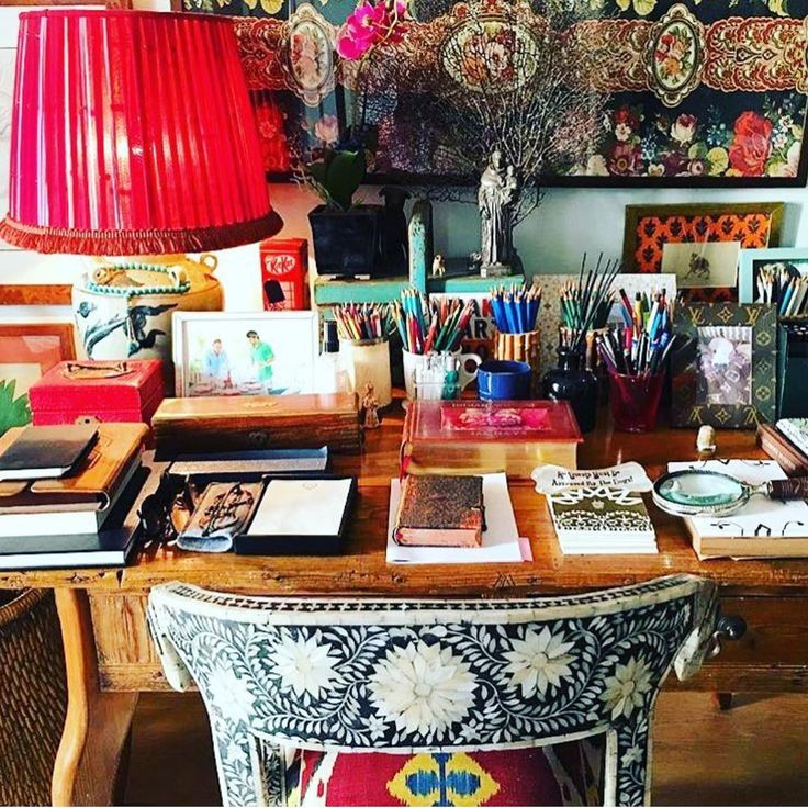 desk and colors Decor, Home, Interior
