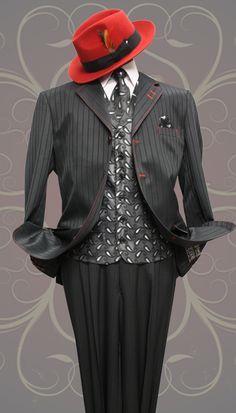 New NWT Zoot Suit S5 Black pinstripe 40R 42R 44R 46R 48R 50R 40L 42L 44L 46L 48L