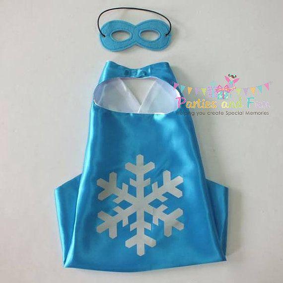 Frozen Cape Frozen Costume Snowflake Cape Winter by partiesandfun