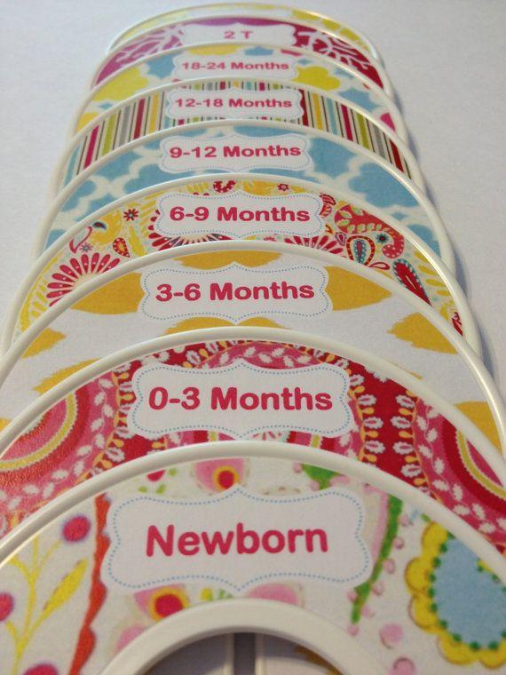 9 Custom Baby Closet Dividers Organizers  - Inspired by Kumari Garden Baby Nursery - Baby Infant Girl Christmas Stocking Stuffers
