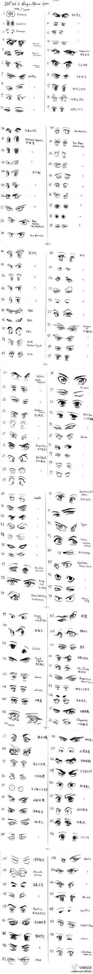 how to draw eyes by bessie