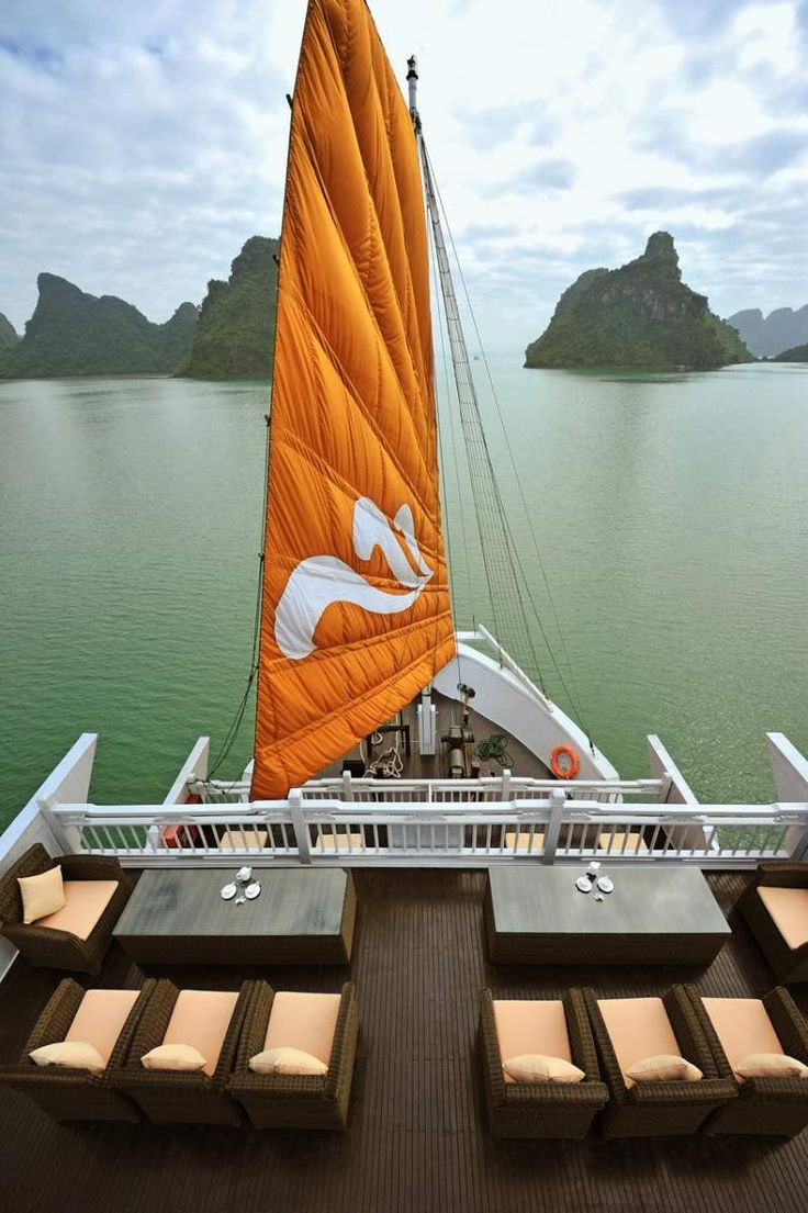 Sailing through Halong Bay, Vietnam on one of Paradise Cruise's Paradise Luxury boats. You can check out my review by clicking the pic, which comes courtesy of Paradise Cruises