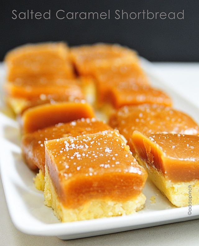 Salted Caramel Shortbread Bars Recipe.  Use this shortbread crust with my simple microwave caramel recipe!