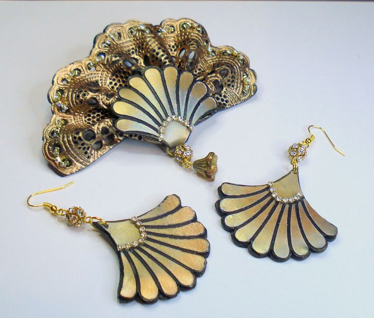 Abanico set Brooch and earrings