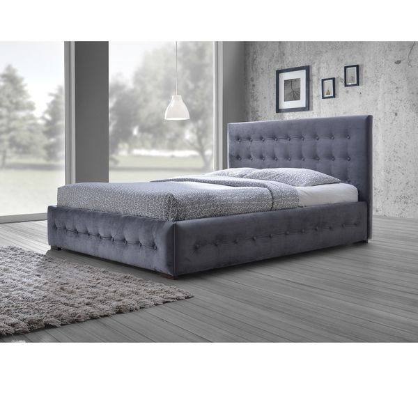 Baxton Studio Pittman Contemporary Grey Fabric Upholstered Platform Bed  With Button Tufted And Winged Headboard. 44 best Furniture images on Pinterest   Basements  Bathroom sink