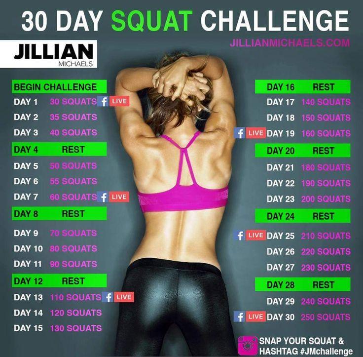 Jillian Michaels squat challenge!