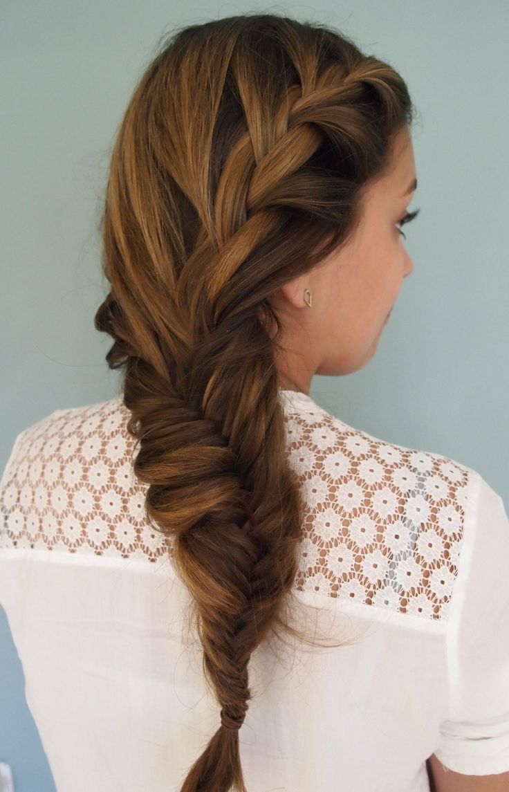 Side french and fishtail plait.  Created by Kirsty @livelifebeautiful