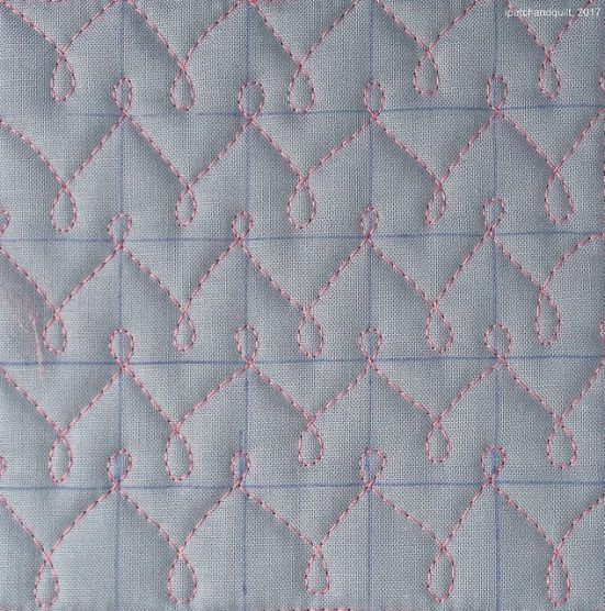 """Now my new sewing room is finally functional, I couldn't resist the urge to """"get my fix"""" of some Free Motion Quilting. For all off these next samples I used an 1 inch grid. As you can see, I marked th"""