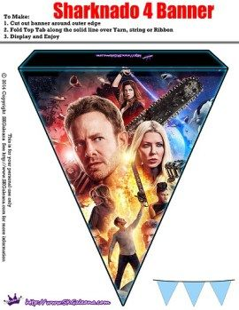 Sharknado 4 Banner style 1 - Sharknado The 4th Awakens Premiere Party Pack