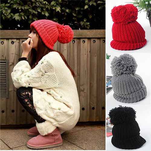 Cheap hat fashion, Buy Quality hat pom directly from China hat long Suppliers: Hot Sale 10 Colors Fashion New Lady women's hat beret Beanie Winter Casual Hat bonnet berets ladies hats and caps berets