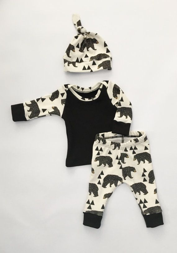 newborn baby outfit baby boy outfit baby by LittleBeansBabyShop