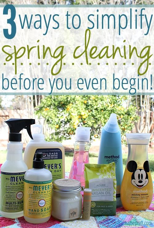 3 quick ways to simplify spring cleaning before you even begin! Have you thought about using these tips before?