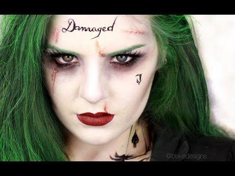 The Joker (Female version) - Suicide Squad, Jared Leto || Makeup tutorial || - YouTube