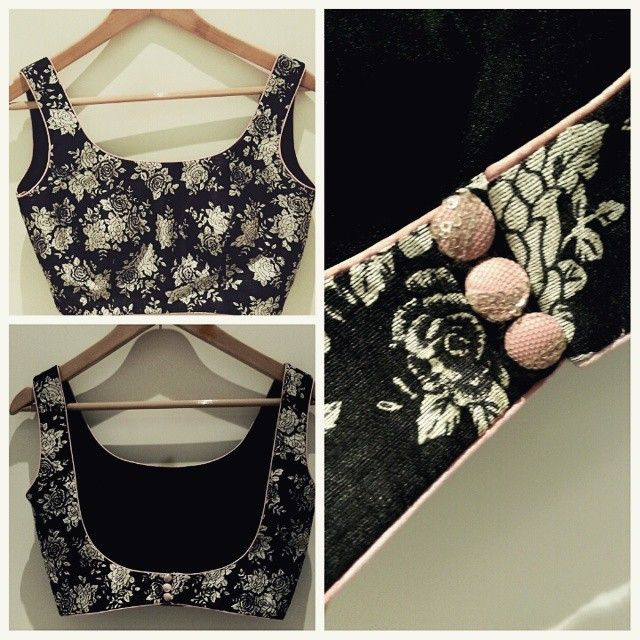 #ShareIG #monochrome#print#floral#blouse#Indian#pinupdiaries#buttons#detail#pink