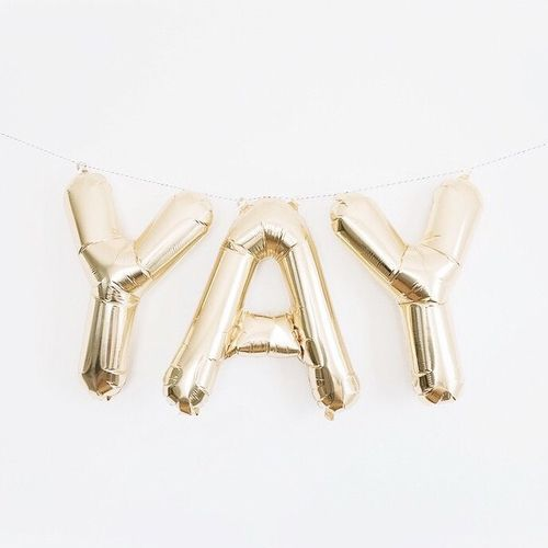 gold letter balloons!