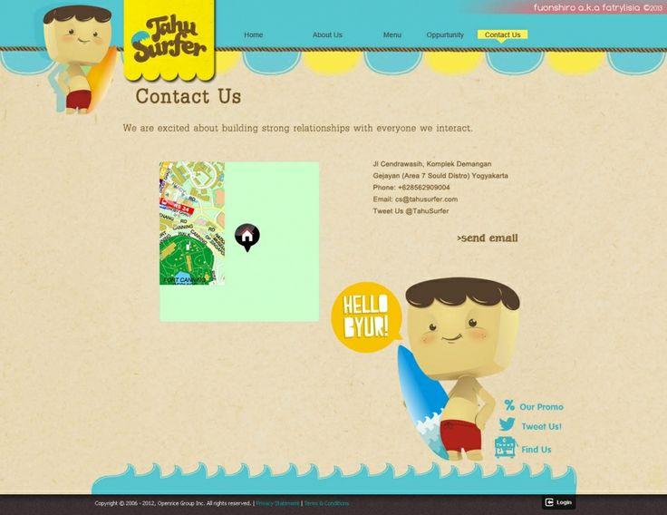 Web Design | Tahu Surfer | Kreavi.com