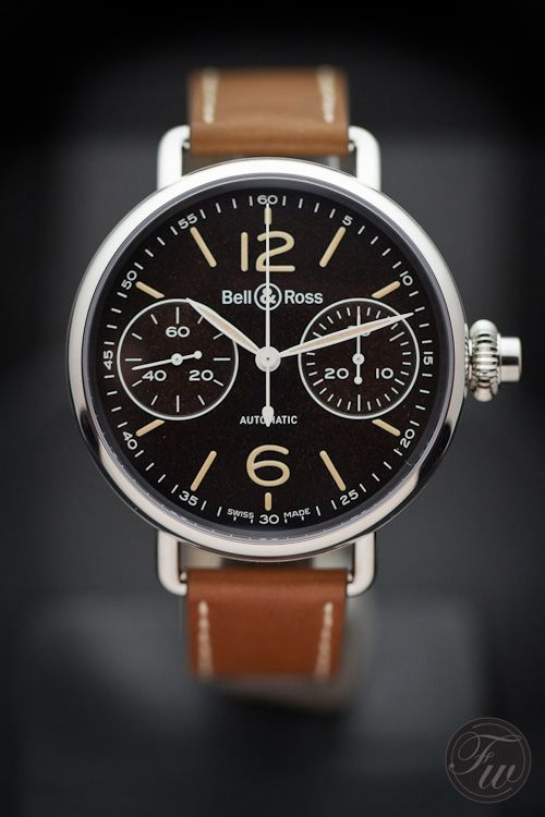 Timeless style....Bell & Ross - World War 1 Chronographe Monopoussoir Heritage