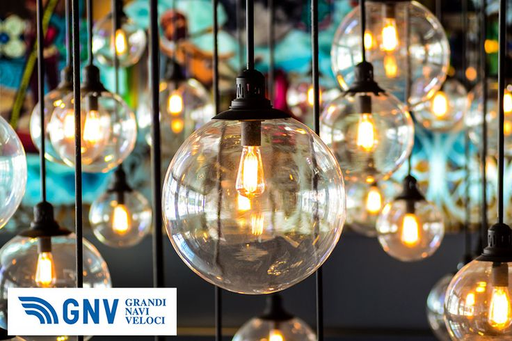 #Vintage #Lighting #decor.  Discover #GNV routes in our website:www.gnv.it/en/
