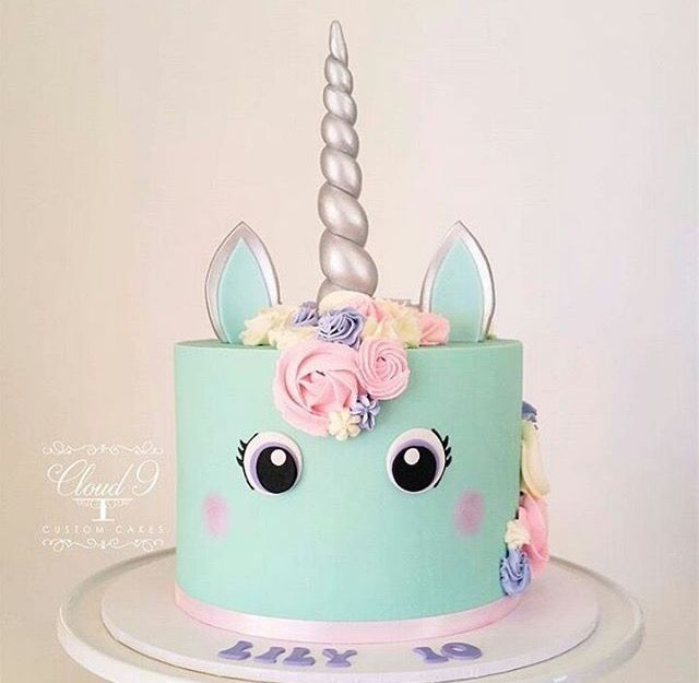 Unicorn Cake Pastel Colors With Images Unicorn Birthday Cake