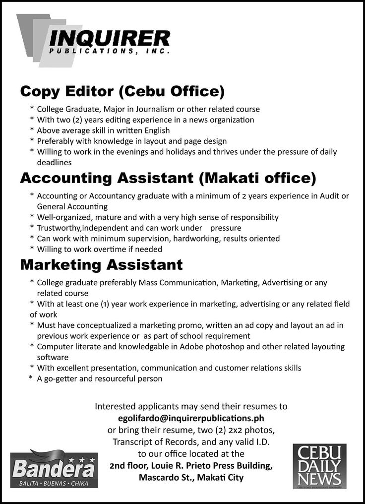 job ads - Google Search jobs Pinterest Job ads - copy editor job description