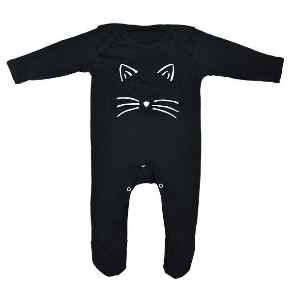 Cat Face Halloween Baby Romper Sleepsuit