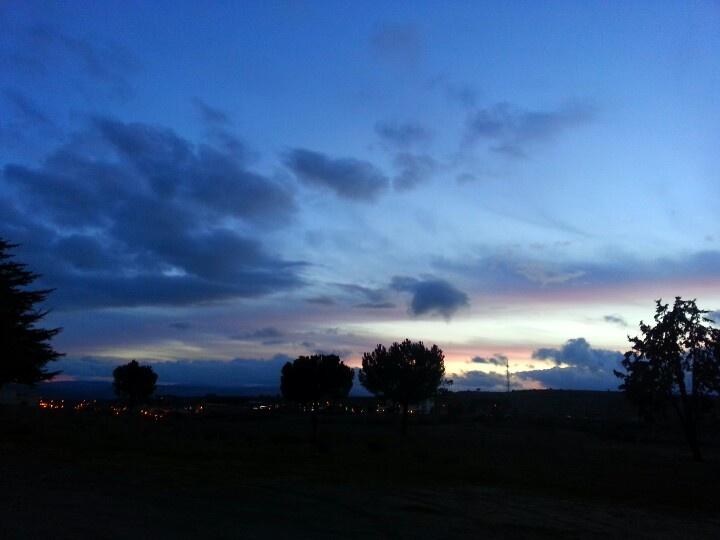 Puesta de sol en #Ávila, España.