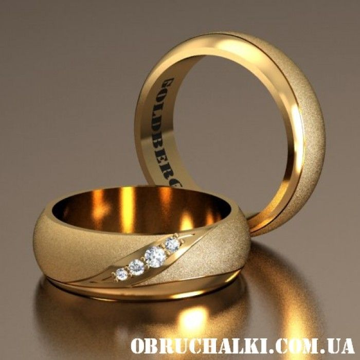 """""""Бьелла"""" - матированные обручальные кольца с полированными элементами"""