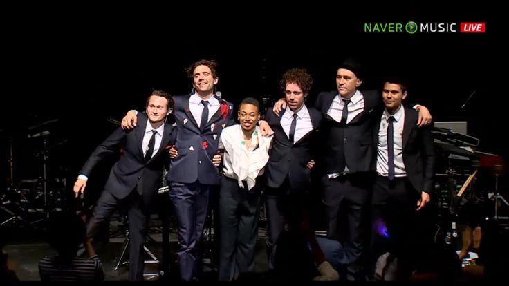 Mika and band at Navermusic showcase in Korea - Max, Mika, Joy, Curtis, Tim, Lewis Wright