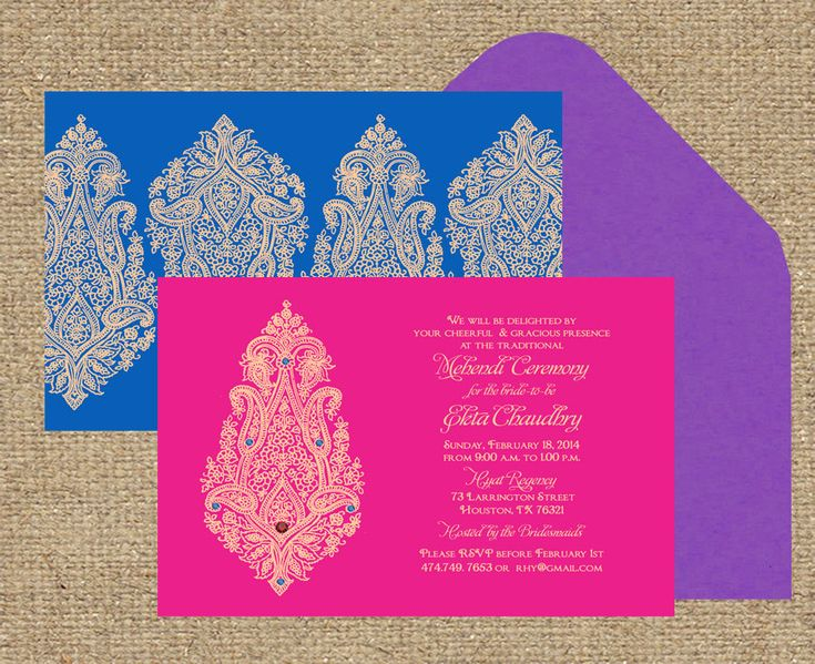Indian Wedding Invitation Blooming Paisley by InvitationShop, $1.85